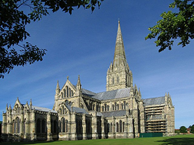 SALISBURY CATHEDRAL FROM THE NORTH EAST